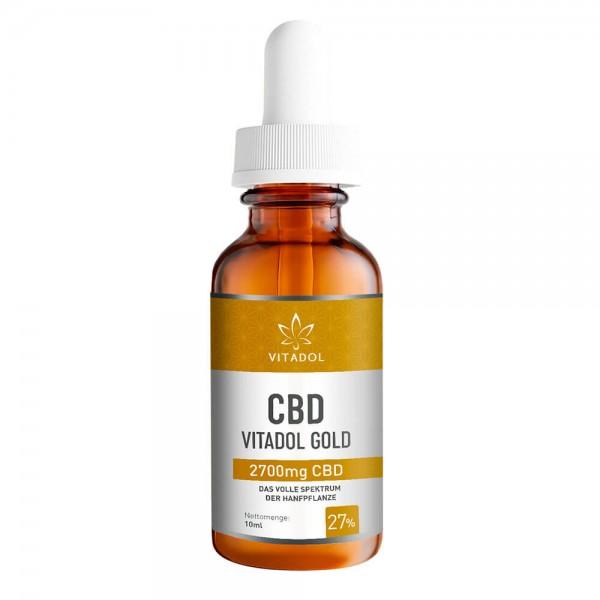 Vitadol Gold Vollspektrum CBD-Öl 2700 mg CBD Fläschchen