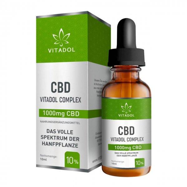Vitadol Complex Vollspektrum CBD Öl 1000 mg CBD