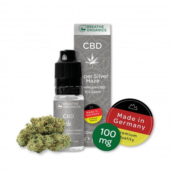 'Breathe Organics' Silver Haze CBD E-Liquid 100 mg CBD