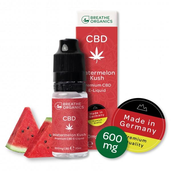 'Breathe Organics' Watermelon Kush CBD E-Liquid 600mg
